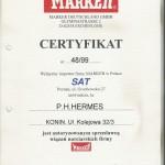 certifikat Marker 1999