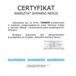 certifikat Shimano Nexus 2011