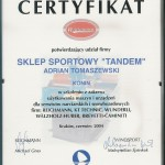 certifikat Windsport 2004